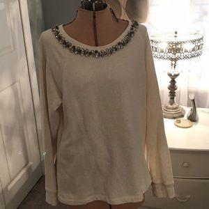 A beaded sweatshirt
